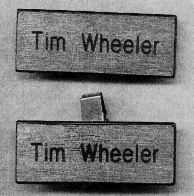 Tim Wheeler Name Tags